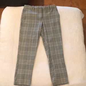 cropped plaid women's pants